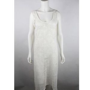 Xhilaration Womens Sundress Coverup  L Off White